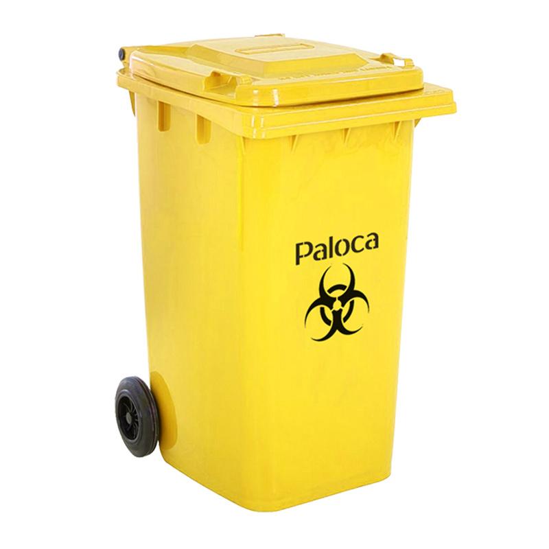 Thùng rác nhựa y tế 240L màu vàng