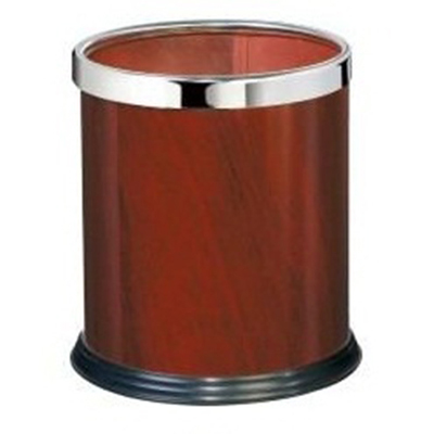 thùng rác tròn văn phòng giả gỗ
