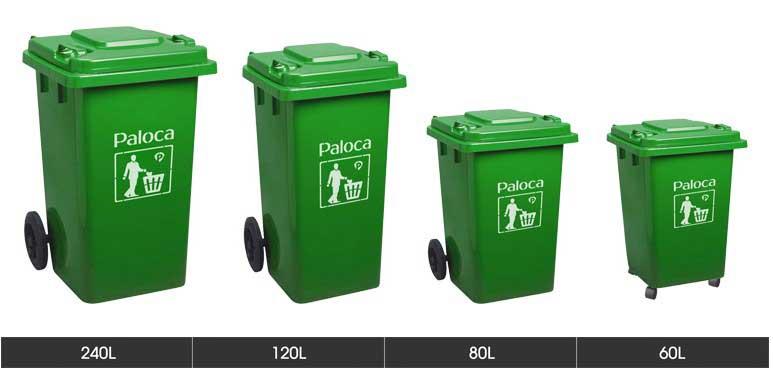 Kích cỡ thùng rác công cộng