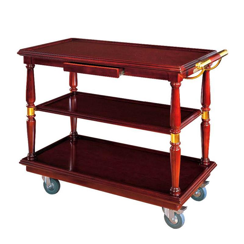 Xe đẩy phục vụ bàn bằng gỗ cao cấp