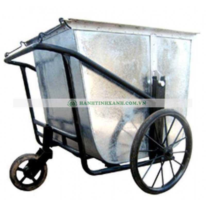 Xe gom rác bằng tôn 3 bánh 400 Lít