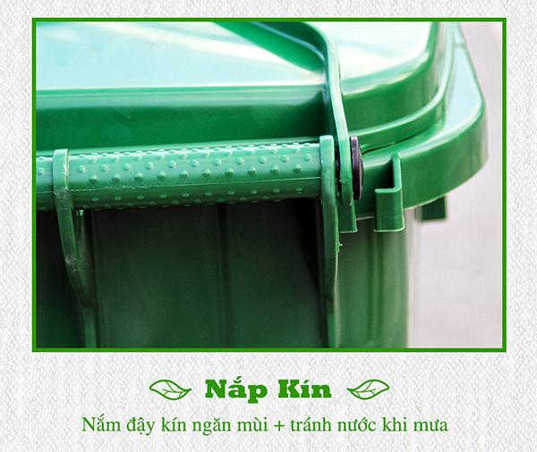 Thùng rác HDPE 120l thương hiệu Paloca