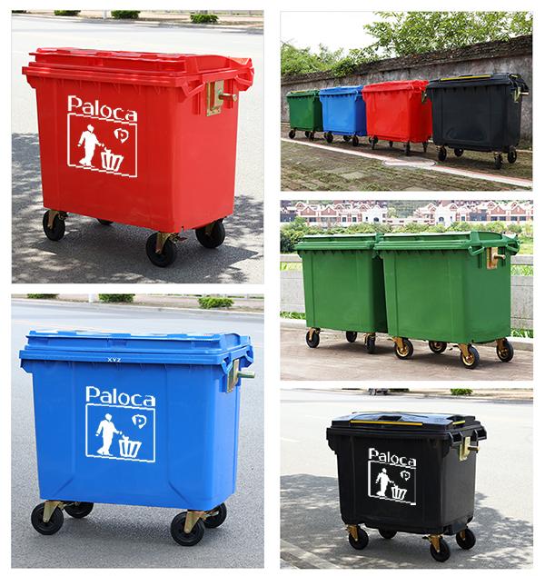 giá thùng rác 660 lít