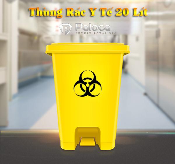 Thùng rác y tế 20 lít đạp chân