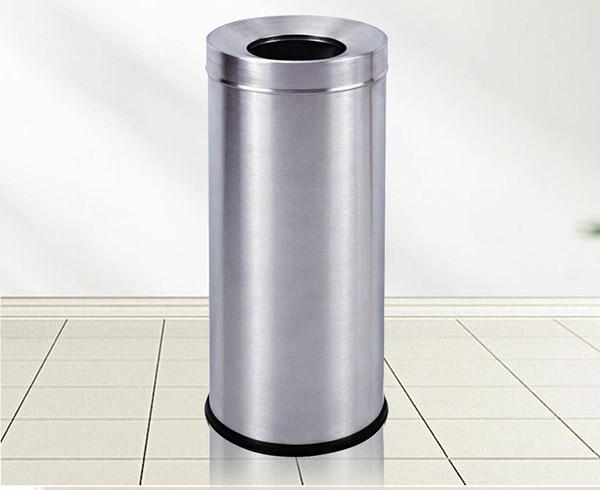 Thùng rác inox tròn không nắp cỡ lớn