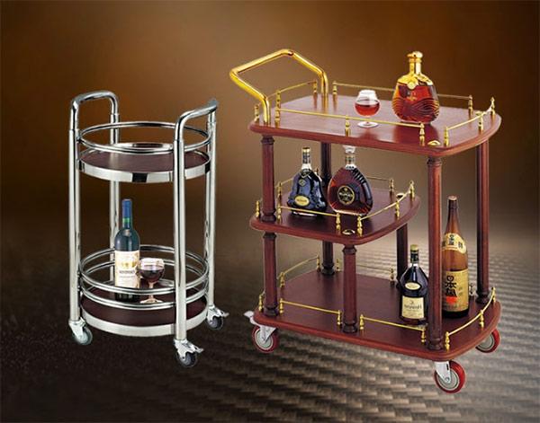 Nên mua xe đẩy rượu làm từ chất liệu nào?