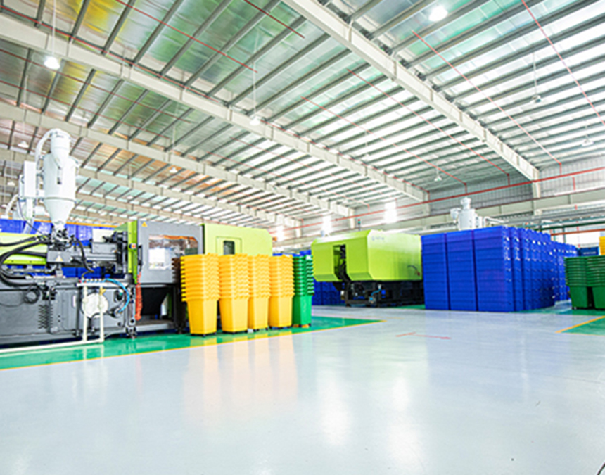 Quy mô xưởng sản xuất thùng rác tại Hành Tinh Xanh