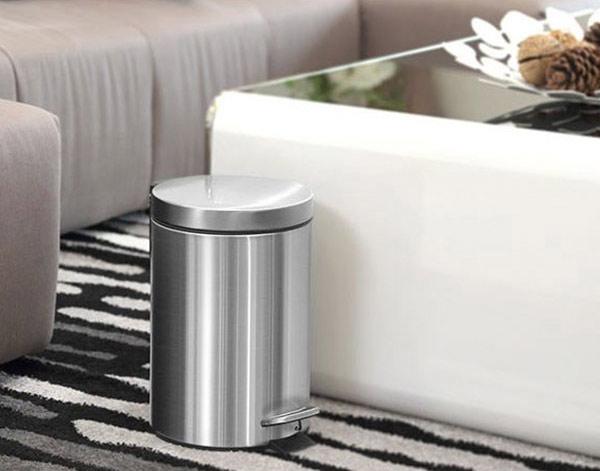 6 lợi ích nhận được khi sử dụng thùng rác inox đạp chân