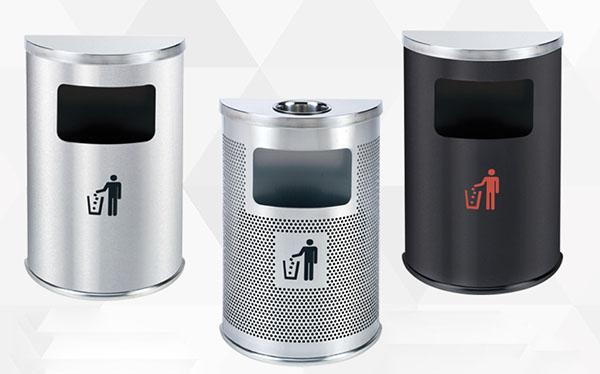 Những mẫu thùng rác bán nguyệt được Hành Tinh Xanh cung cấp