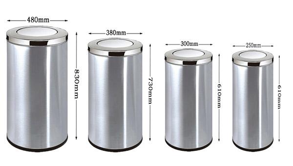 Tham khảo một số kích thước thùng rác nắp lật tròn