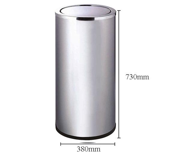 Kích thước thùng rác nắp bập bênh