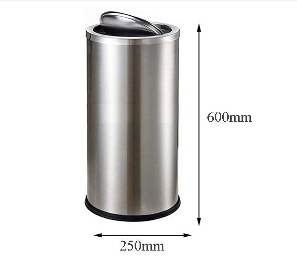 Kích thước thùng rác inox để bạn tham khảo