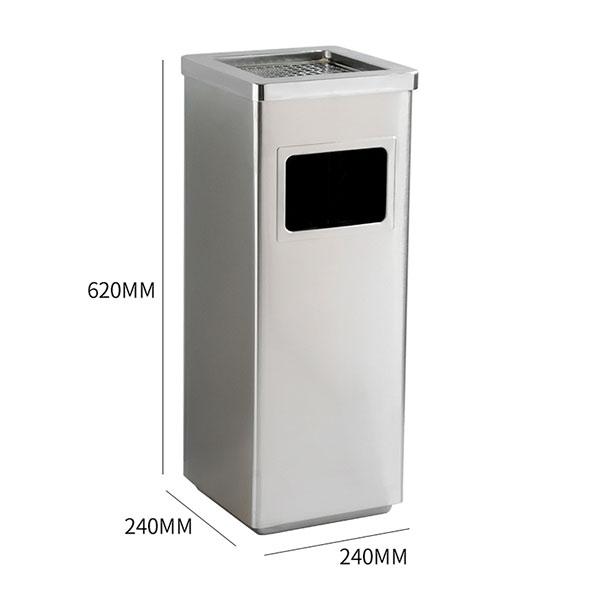 Kích thước thùng rác Inox vuông
