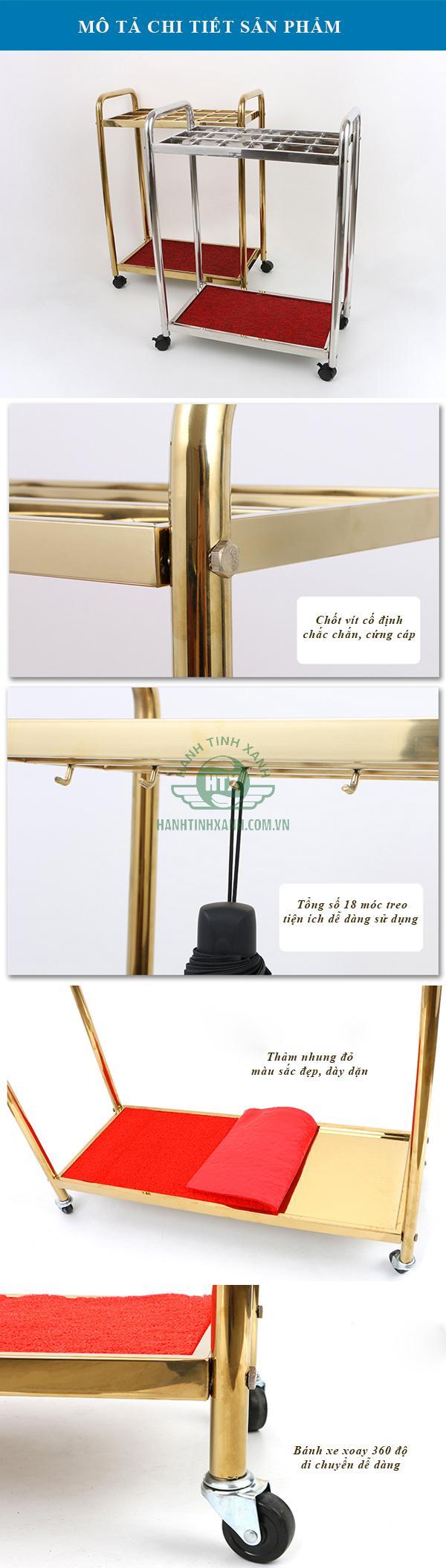 Mô tả chi tiết giá để ô dù khách sạn
