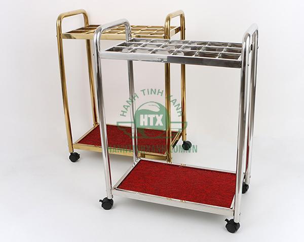 Mẫu giá để ô bằng Inox 18 ngăn tại Hành Tinh Xanh