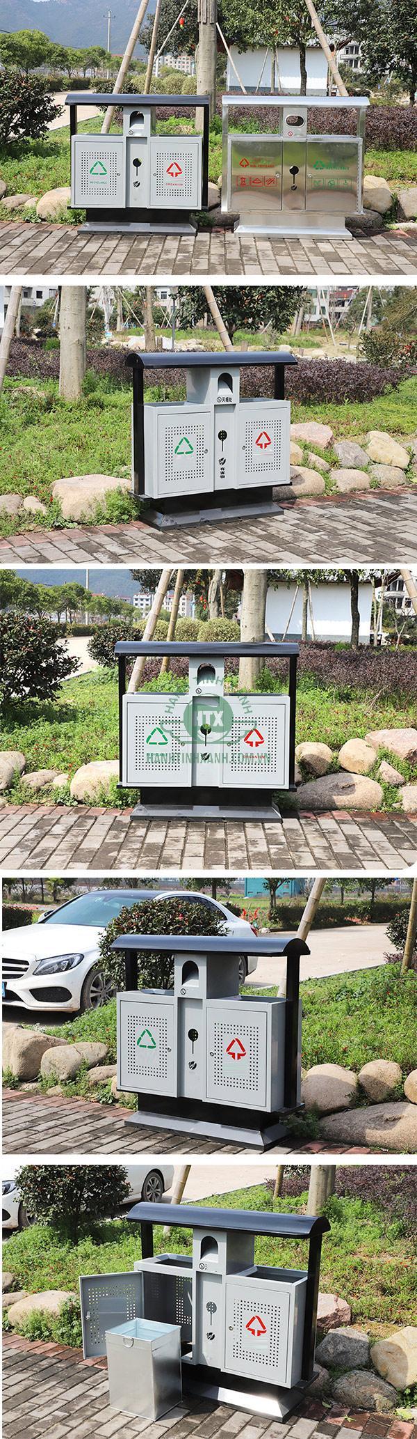 Mẫu thùng rác phù hợp trong nhiều địa điểm công cộng