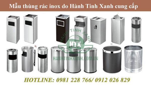 Hành Tinh Xanh cung cấp mọi loại thùng rác inox