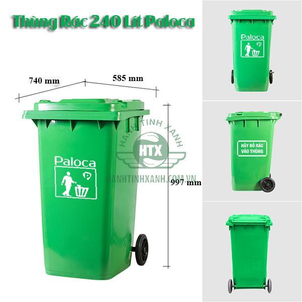 thùng rác 240 lít giá bao nhiêu