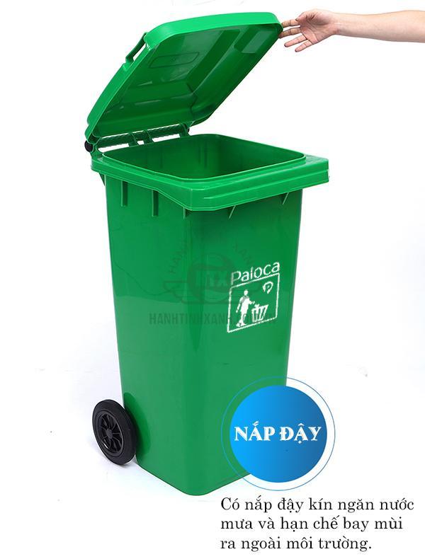 giá thùng rác công cộng 120l