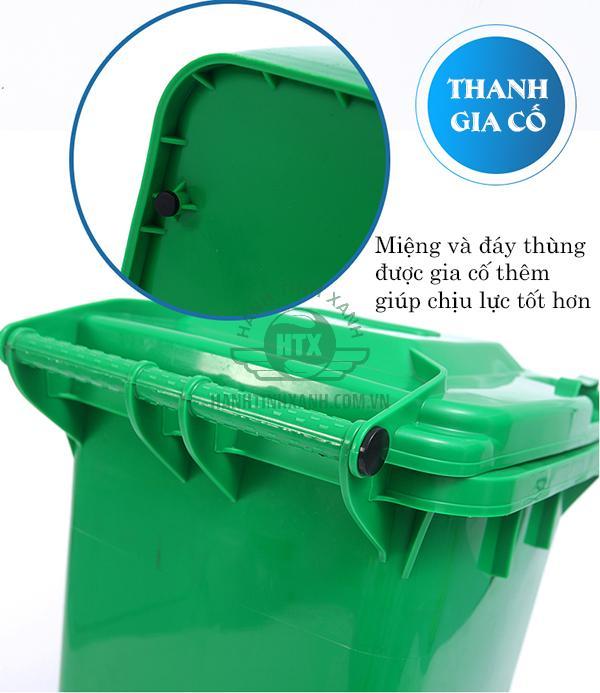 thùng rác công cộng 120 lít giá