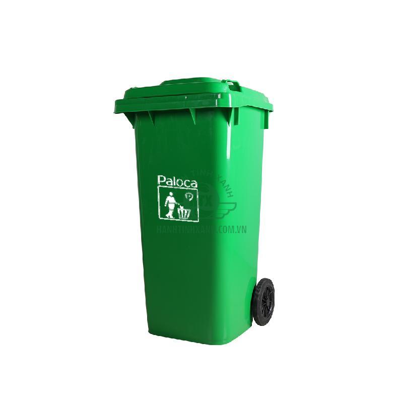 Thùng rác công cộng 120 lít thương hiệu Paloca cao cấp