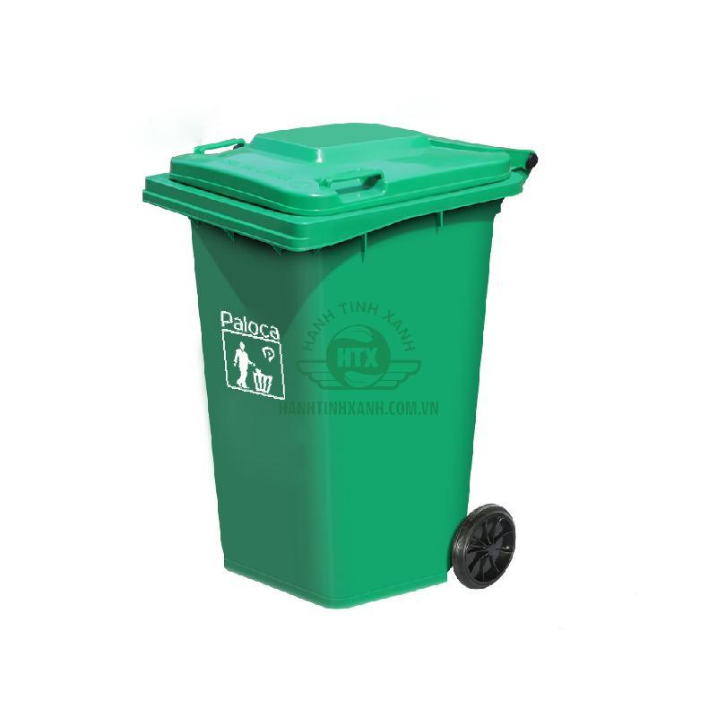 Thùng rác công cộng 240 lít thương hiệu Paloca cao cấp