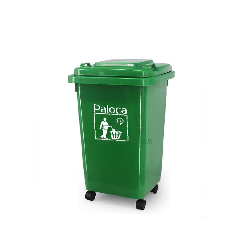 Thùng rác công cộng 60 lít thương hiệu Paloca cao cấp