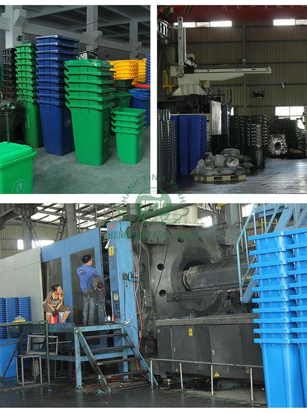 giá thùng rác công nghiệp 240 lít