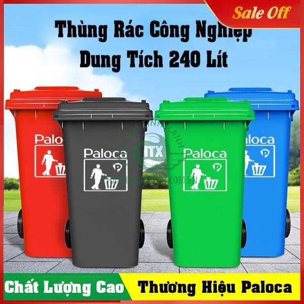 thùng rác công nghiệp 240 lít