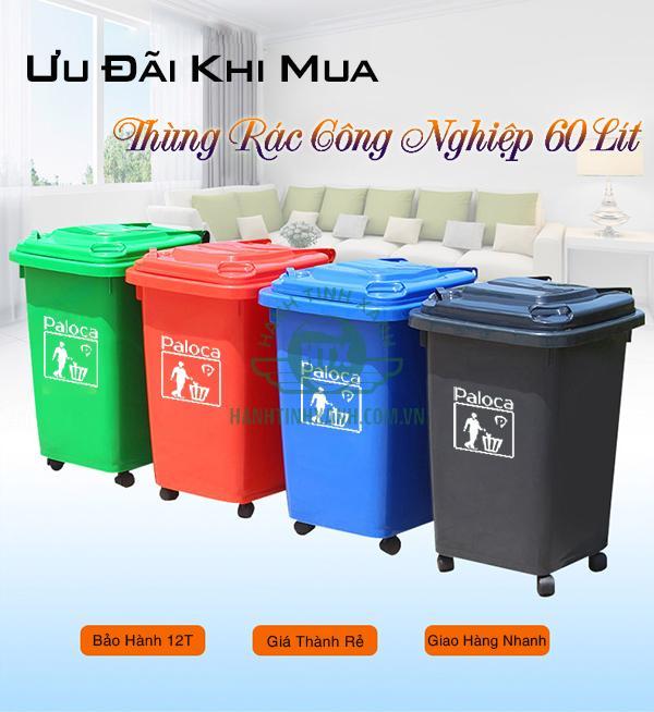 Thùng rác công nghiệp 60l