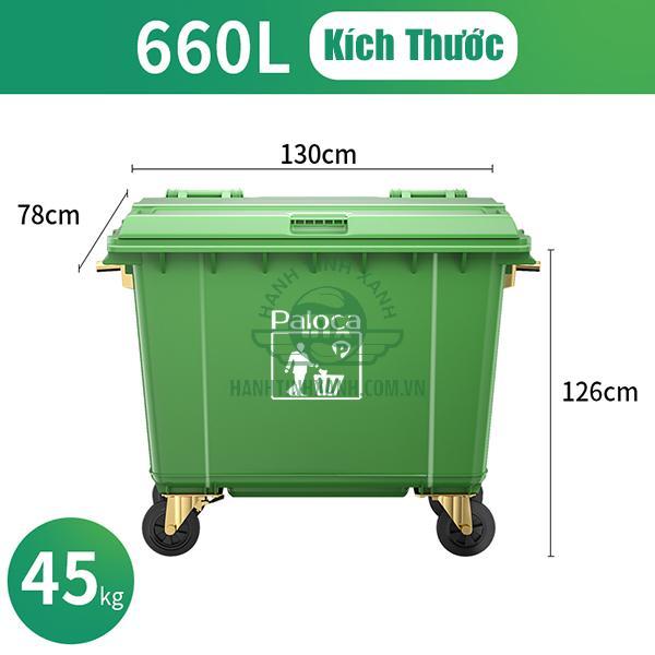 Thùng rác công nghiệp 660 lít