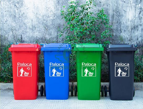 Giá thùng rác nhựa HDPE 120 lít thương hiệu Paloca