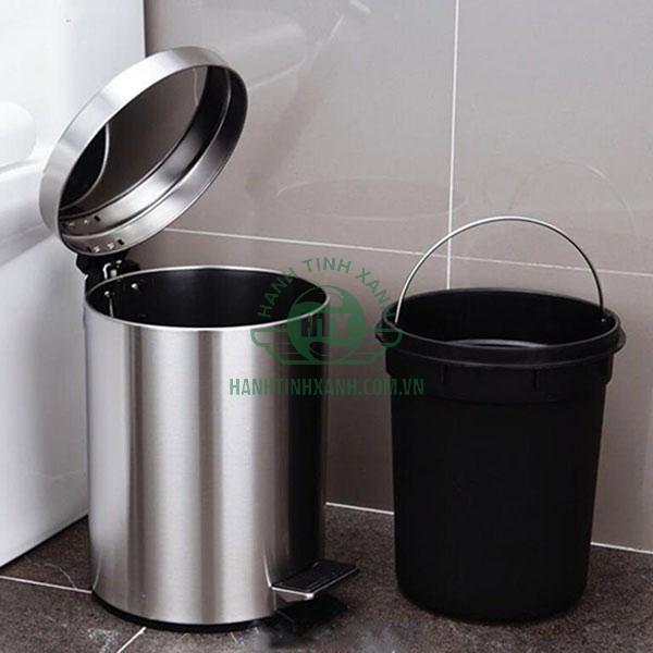 Thùng rác Inox tròn dung tích 30L