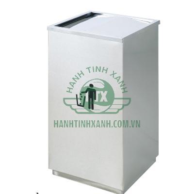 thùng rác inox vuông