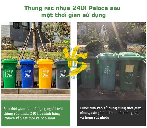 Thùng rác nhựa 240l