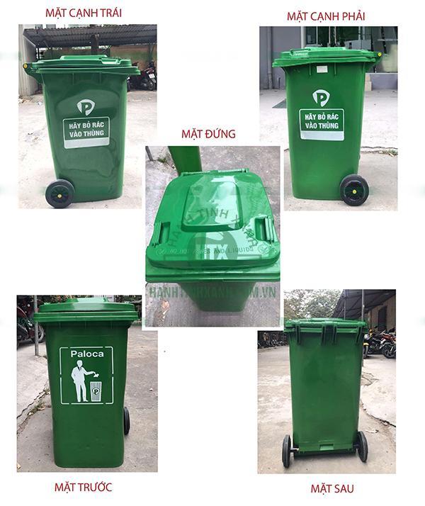 Thùng rác nhựa 240 lít giá