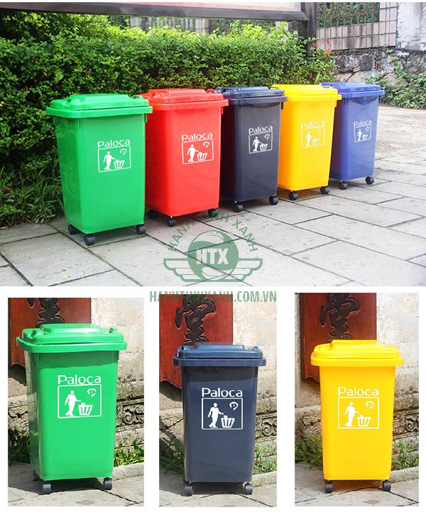 Giá thùng rác nhựa 60l