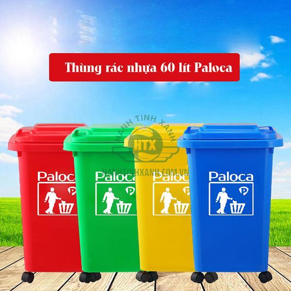 Thùng rác nhựa 60 lít thương hiệu Paloca