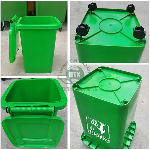 Thùng rác nhựa 60 lít chính hãng Paloca