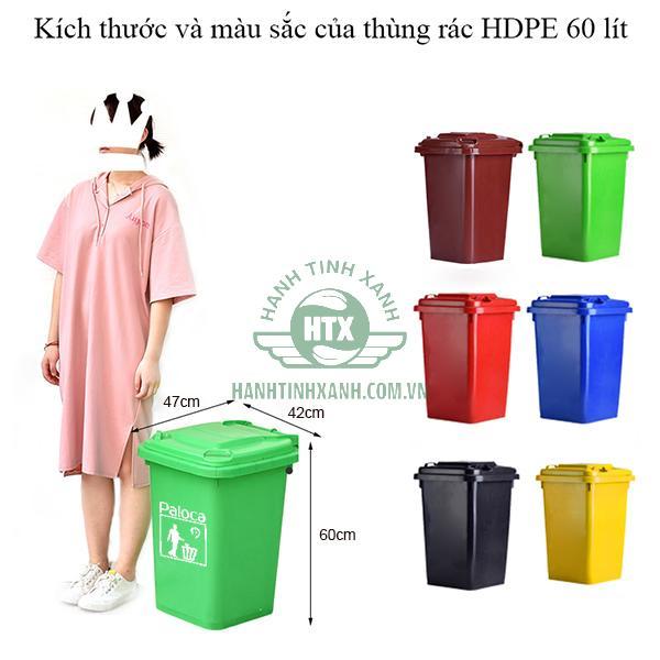 Thùng rác nhựa HDPE chính hãng Paloca