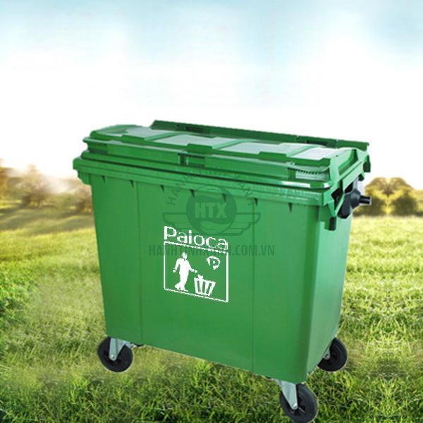 Thùng rác nhựa composite 660 lít thương hiệu Paloca