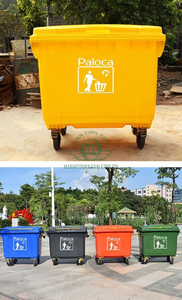 Thùng rác composite 660l thương hiệu Paloca