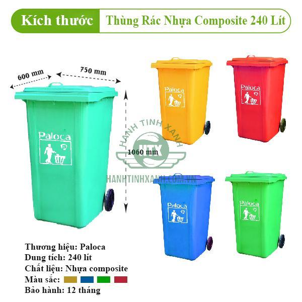 thùng rác bằng nhựa composite