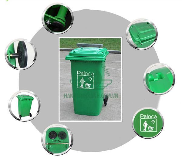 Thùng rác HDPE 240 lít