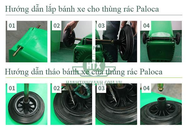 Thùng rác HDPE 240l