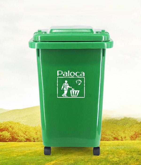 Thùng rác nhựa HDPE 60 lít chính hãng Paloca