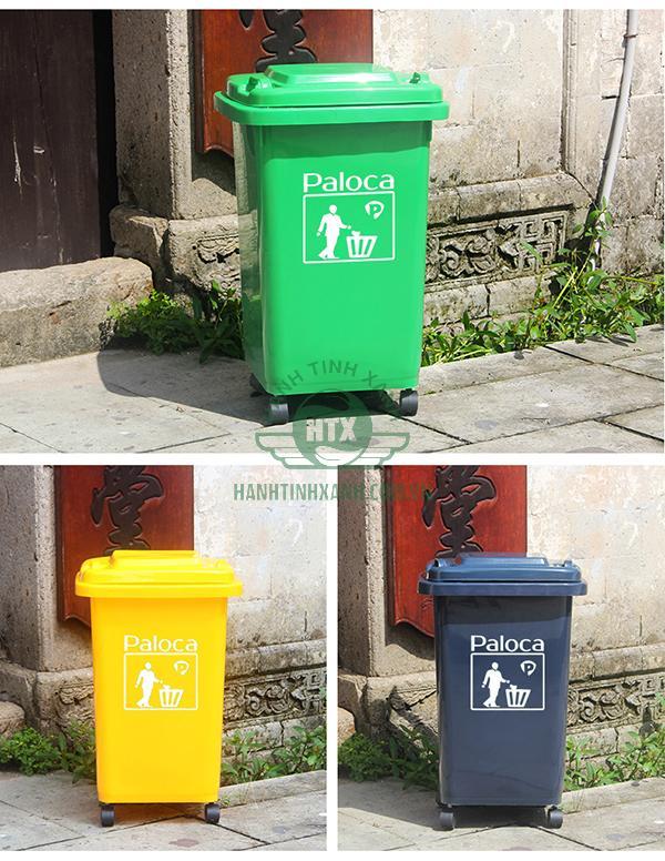 Thùng rác HDPE 60l