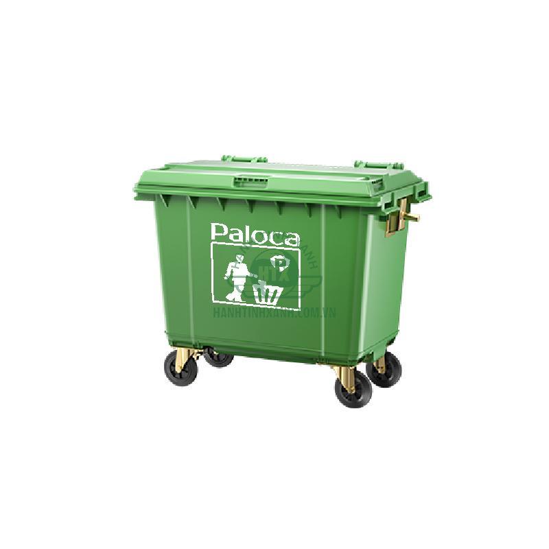 Thùng rác HDPE 660 lít Paloca