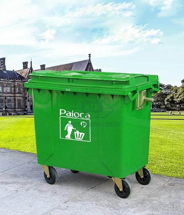 Thùng rác nhựa HDPE 660l chính hãng Paloca