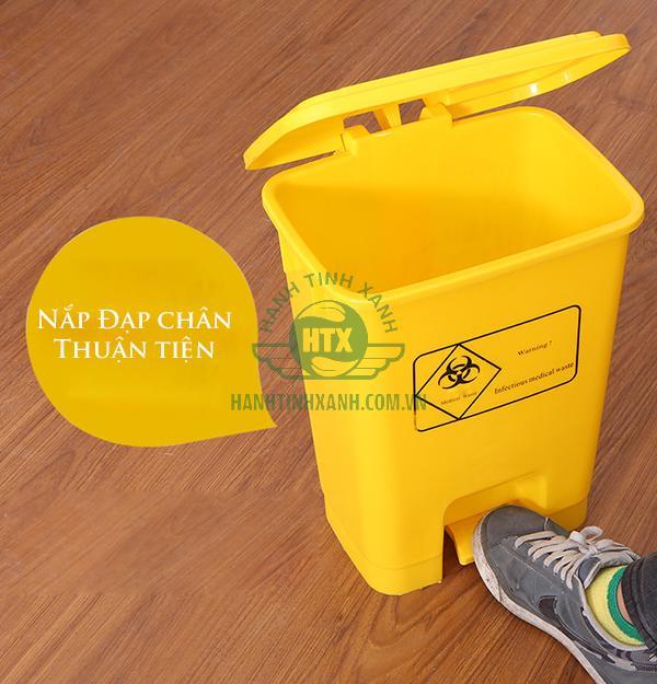 Thùng rác y tế đạp chân 15 lít